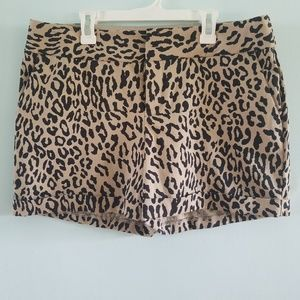 🔥INC | leopard print dress shorts with pockets 10